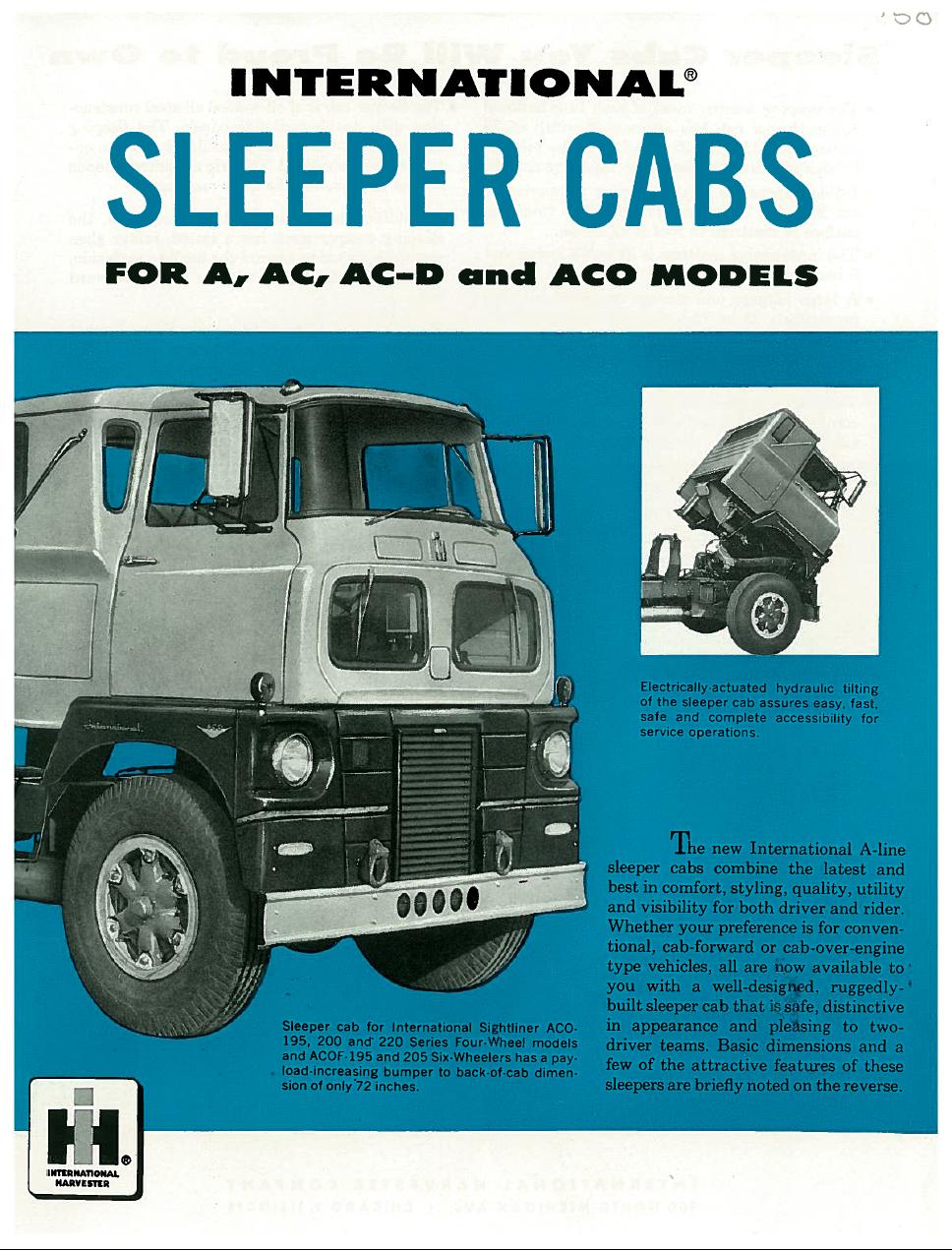 A Series Sleeper Cab Brochure And Aco Model Discussion Binderplanet